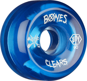 BONES SPF CLEARS 60mm CLEAR BLUE