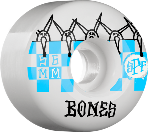 BONES SPF TILES 56mm 84B WHITE/BLUE