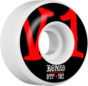 BONES STF V1 ANNUALS BOLD 52mm WHITE