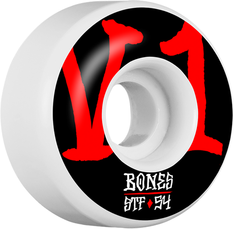 BONES STF V1 ANNUALS BOLD 54mm WHITE