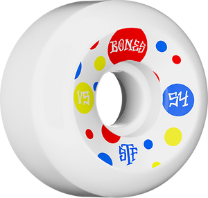BONES STF V5 DOTS 54mm WHITE