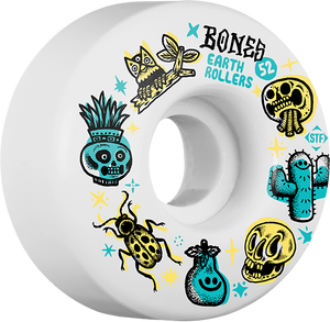 BONES STF EARTH ROLLERS V1 52mm WHITE