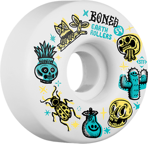 BONES STF EARTH ROLLERS V1 54mm WHITE