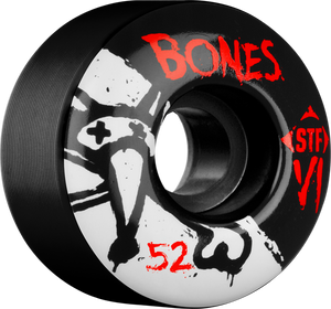 BONES STF SKINNY V1 SERIES 52mm BLACK