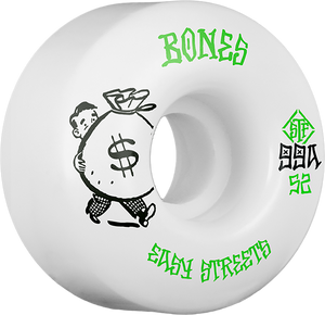 BONES STF EASY STREETS STANDARD MONEY 52mm WHT/GRN
