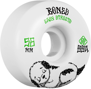 BONES STF EASY STREETS FATTIE REST 56mm WHT/GRN