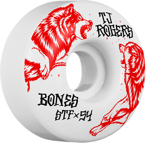 BONES ROGERS STF V3 SURVIVAL 54mm WHT/RED