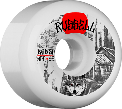 BONES RUSSELL SPF CABIN 56mm WHT/BLK/RED