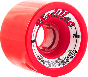 CADILLAC WHITE WALLS 59mm 78a RED
