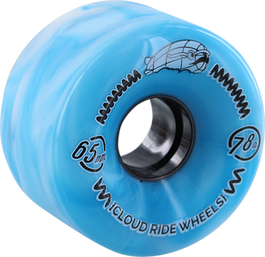 CLOUD RIDE! STREET CRUISER 65mm 78a TEAL/WT MARBLE