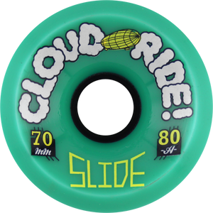 CLOUD RIDE! SLIDE 70mm 80a TEAL