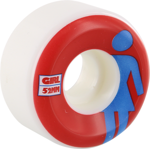 GIRL CLASSIC OG CONICAL 52mm WHT/RED/BLU