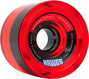 HAWGS 70'S 70mm 78a CLEAR RED