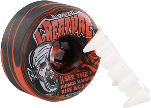 OJ WHEELS CREATURE BLOODSUCKERS 54mm 97a RED/BLK SWIRL