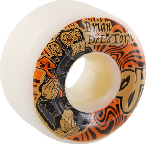 OJ WHEELS DELATORRE TRIP 54mm 101a WHT/ORG