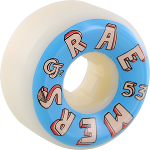 OJ WHEELS RAEMERS LETTERS 53mm 101a WHT/BLUE