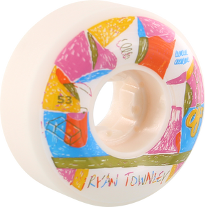 OJ WHEELS TOWNLEY ELITE UNIVERSAL 53mm 101a WHITE