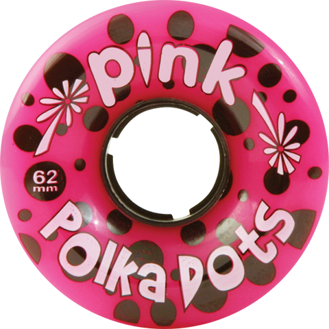 PINK POLKA DOTS 62mm 96a PINK