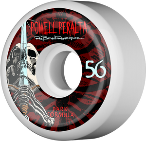 PWL/P RAY ROD SKULL & SWORD PF 56mm 103a WHT/RED