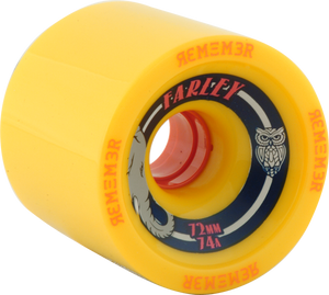 REMEMBER WHEELS FARLEY GRIP 72mm 74a YELLOW