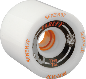REMEMBER WHEELS FARLEY GRIP 72mm 78a WHT/BLK/ORG