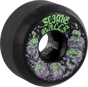 SANTA CRUZ SLIMEBALLS SKULLBASHER 58mm 97a BLACK
