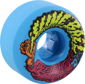 SANTA CRUZ SLIMEBALLS VOMITS MINI 54mm 97a NEON BLUE