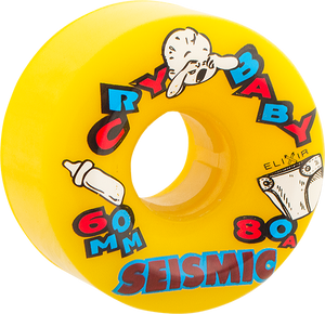 SEISMIC CRY BABY 60mm 80a YELLOW