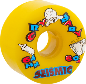 SEISMIC CRY BABY 64mm 80a YELLOW
