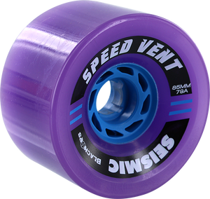 SEISMIC SPEED VENT 85mm 79a TRANS.PURPLE