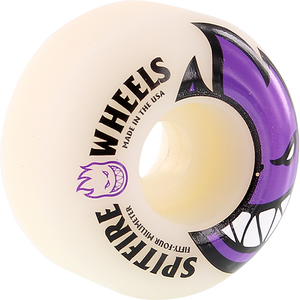 SPITFIRE BIGHEAD 54mm WHT W/PURPLE