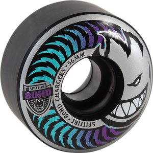SPITFIRE 80HD CHARGER CLASSIC 56mm ICY FADE BLACK