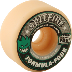 SF FORMULA 4 101a CONICAL 53mm WHT W/GRN & BLK