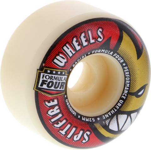 SPITFIRE F4 101a RADIALS 52mm WHT W/RED/GOLD