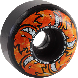 SPITFIRE F4 99a CL 53mm HELLFIRE MULTIBALL SWIRL BK/GREY