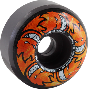 SPITFIRE F4 99a CL 54mm HELLFIRE MULTIBALL SWIRL BK/GREY