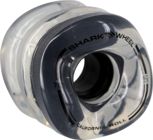 SHARK WHEELS CALIFORNIA ROLL 60mm 78a CLEAR W/BLACK HUB