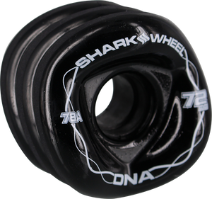SHARK WHEELS DNA 72mm 78a SOLID BLACK/WHT