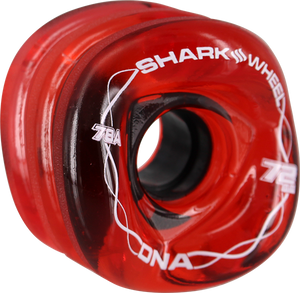 SHARK WHEELS DNA 72mm 78a TRANS.RED/WHT