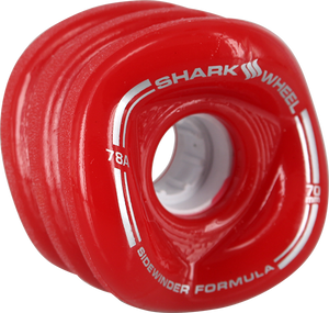 SHARK WHEELS SIDEWINDER 70mm 78a SOLID RED