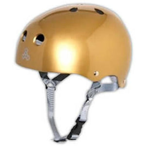 Triple 8 Helmet: Brainsaver Rubberized Gold