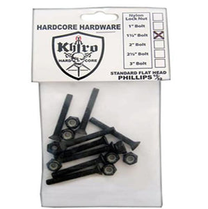 Khiro Hardware: Truck Mount Flathead Bolts 8 Pack Hardware- Edge Boardshop