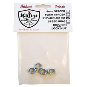 "Khiro Hardware: Axle Lock Nuts 5/16"" 4 Pack Hardware- Edge Boardshop"