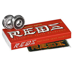 Bones Bearings:  Super Reds Bearings- Edge Boardshop