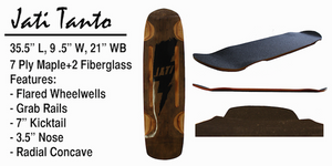 Jati Longboard Deck: Tanto 35 Boards- Edge Boardshop