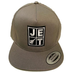 Jet Skateboards Hat: Logo Snap Back Hat Grey Hats- Edge Boardshop