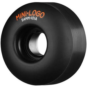 Mini Logo Skateboard Wheels:<br54mm 101a Black Set  SALE Wheels- Edge Boardshop