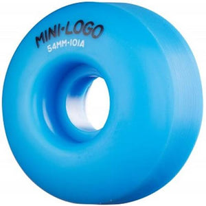 Mini Logo Skateboard Wheels: 54mm 101a Blue Set Wheels- Edge Boardshop