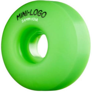 Mini Logo Skateboard Wheels: Mini-Logo 54mm 101a Green Set Wheels- Edge Boardshop
