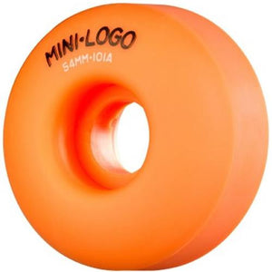 Mini Logo Skateboard Wheels: Mini-Logo 54mm 101a Orange Set Wheels- Edge Boardshop